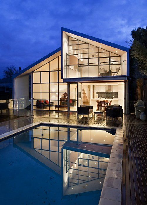 House of glass walls
