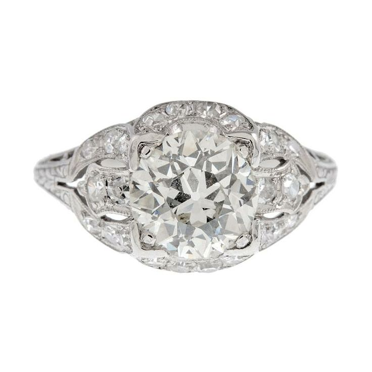 Art Deco Engagement Rings Diamond 5