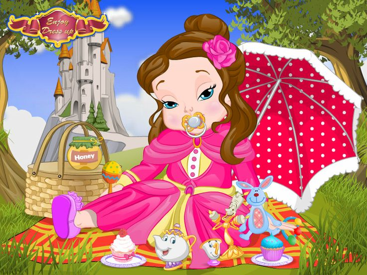 Baby Belle Spa Day  http://www.enjoydressup.com/baby-games/baby-belle-spa-day-8346.html