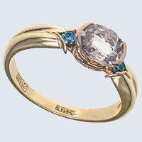 Золотое кольцо с розовым морганитом и бриллиантами GDMOR5533 GDMOR5533