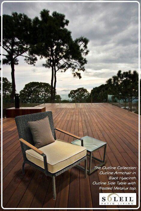 Pamphlet/ Mailer for Soleil Patio Living by Jezelle Collins. New Product Launch: Outline Armchair in Black Hyacinth.