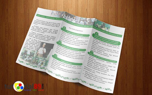 Cara mudah membuat brosur lipat 3 dengan photoshop