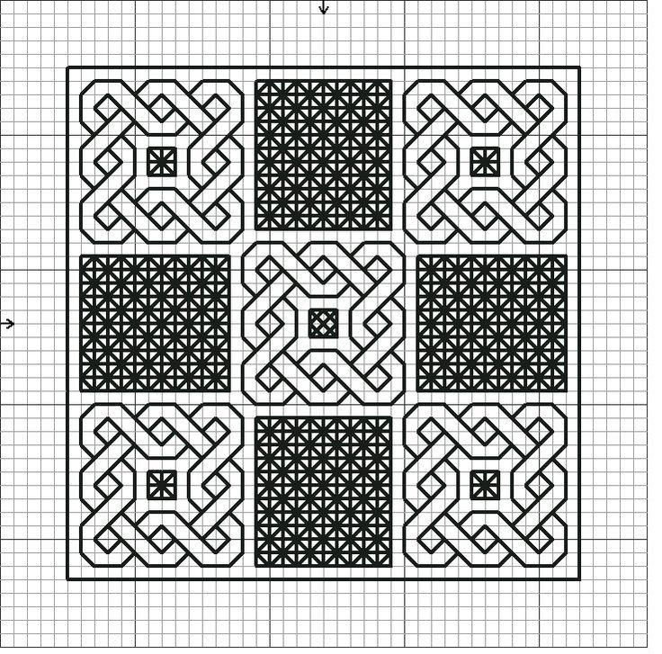 blackwork sampler pattern