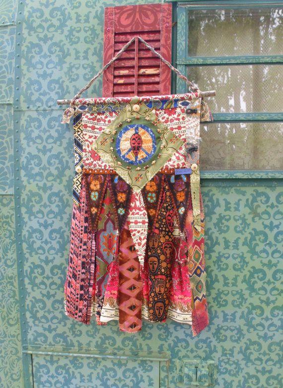 Boho+chic+prayer+flag+DIY+style+wall+art+by+TheSleepyArmadillo
