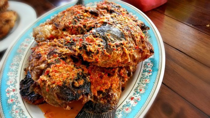 Grilled Fish with Sambal - Tomato Sauce