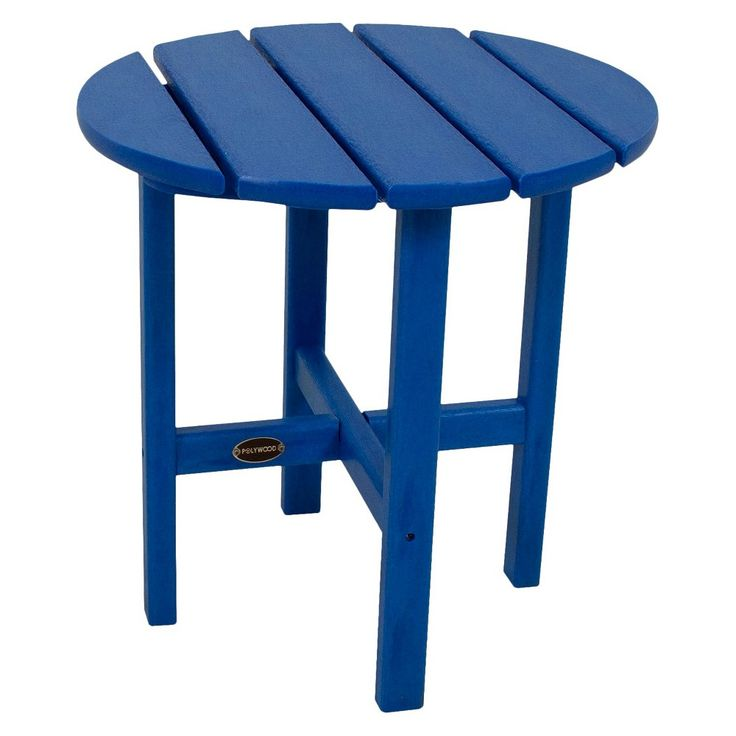 Polywood Round Patio Side Table - Pacific Blue, Pac Blue - 25+ Best Ideas About Round Patio Table On Pinterest Good Red