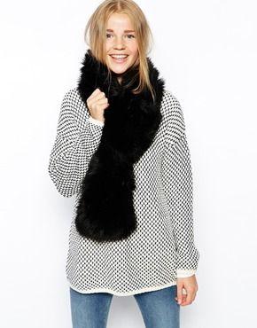 ASOS+Faux+Fur+Collar+With+Slot+Through+Detail