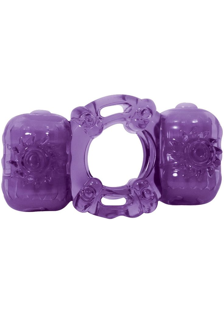 Partners Pleasure Ring Silicone Cock Ring Waterproof Purple