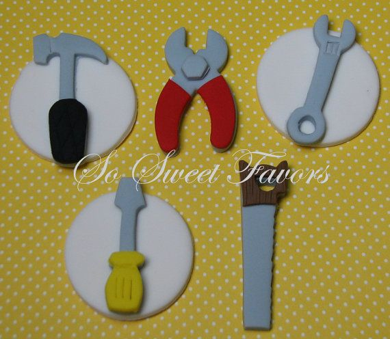 These tools cupcake toppers are offered by seller Sweet Favors 08 ...