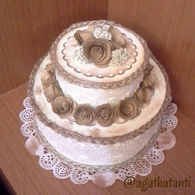 #ODOPDay17 Tema : Rustic ☆ Rustic Birthday Tart Cake ☆