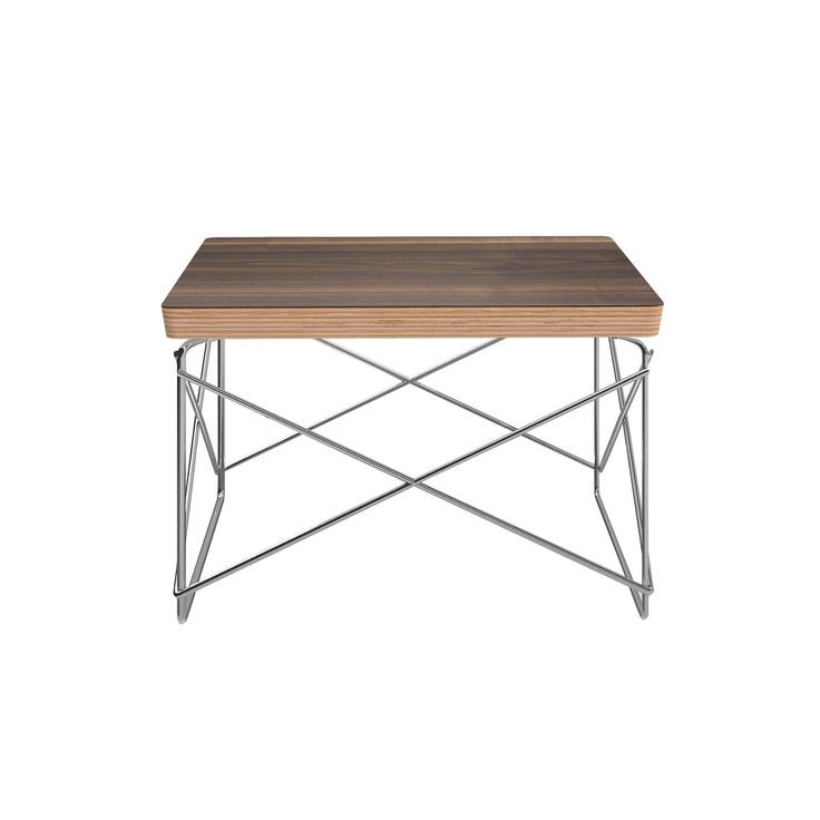 Jasmine Contemporary Side Table with Veneer Top - Walnut (Brown) - Aeon