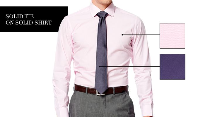 Light Pink Shirt Dark Grey Purple Tie Grey Suit My