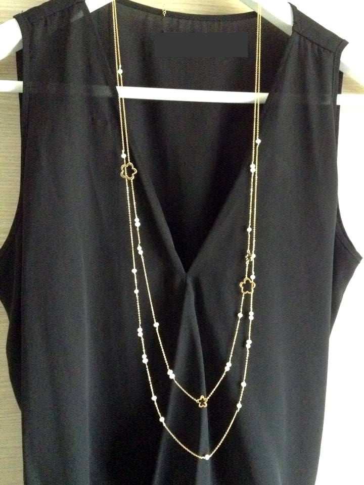 Set of two necklaces - real freshwater pearls - 45.00euro www.PlusLoveStudio.etsy.com