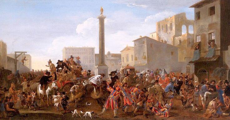 Jan Miel, Carnival in Piazza Colonna, 1645