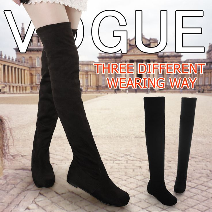 Women boots 2014 autumn winter ladies fashion flat bottom boots shoes over the knee thigh high suede long boots brand designer US $29.99