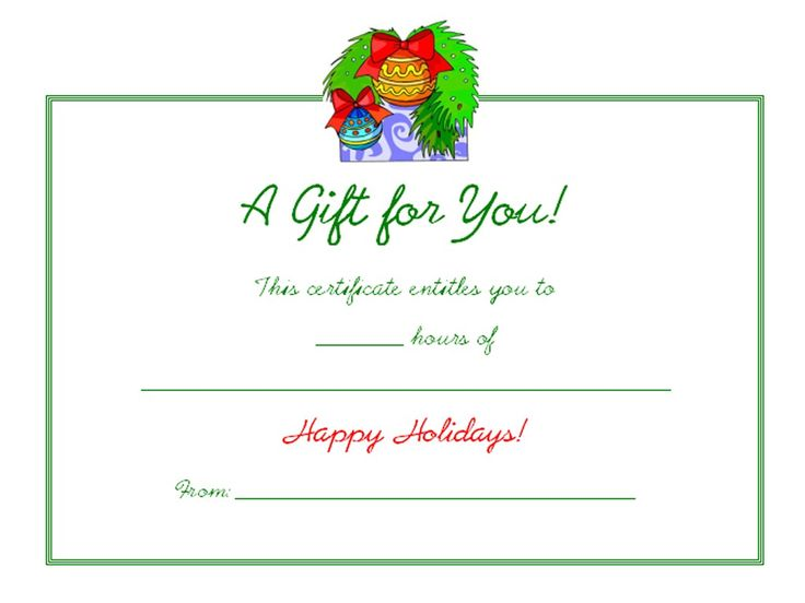 17 Best ideas about Gift Certificates – This Certificate Entitles You to Template