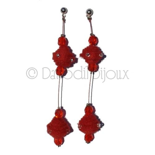 Orecchini Soft Crystal  Soft Crystal Earrings by Daffodil Bijoux