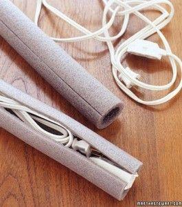 Tubos de espuma para proteger cabos