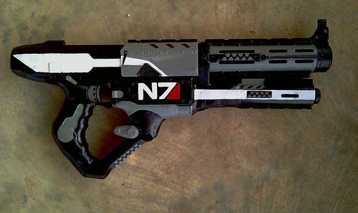 Mass Effect Custom Shotgun made from a Nerf Recon