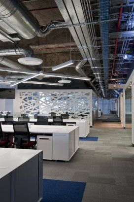 I Like How The Ceiling Is Open In The Open Office, Then Dropped For More