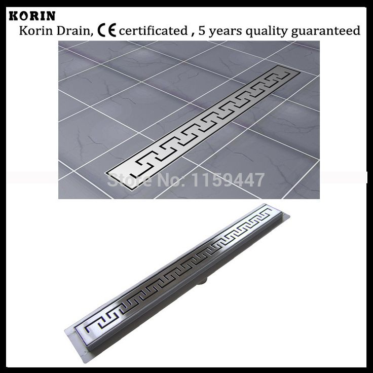 "800mm ""ZIPPER"" Style Stainless Steel 304 Linear Shower Drain, Vertical Shower Drain with flange, Shower Grate, long floor drain"