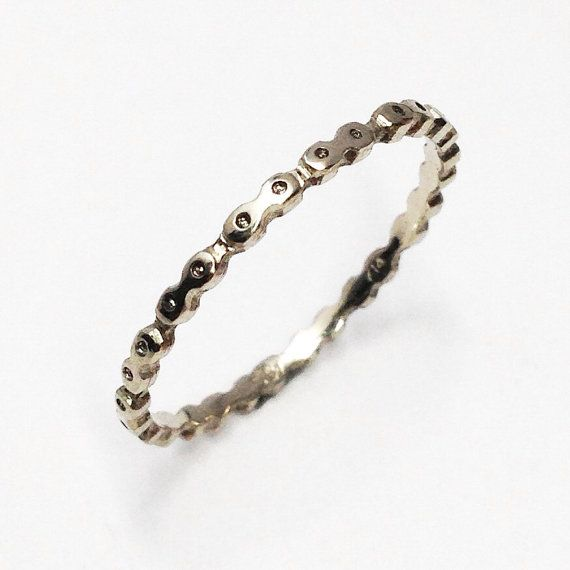 Bicycle Chain Ring Thin Silver by ruiandaguri on Etsy
