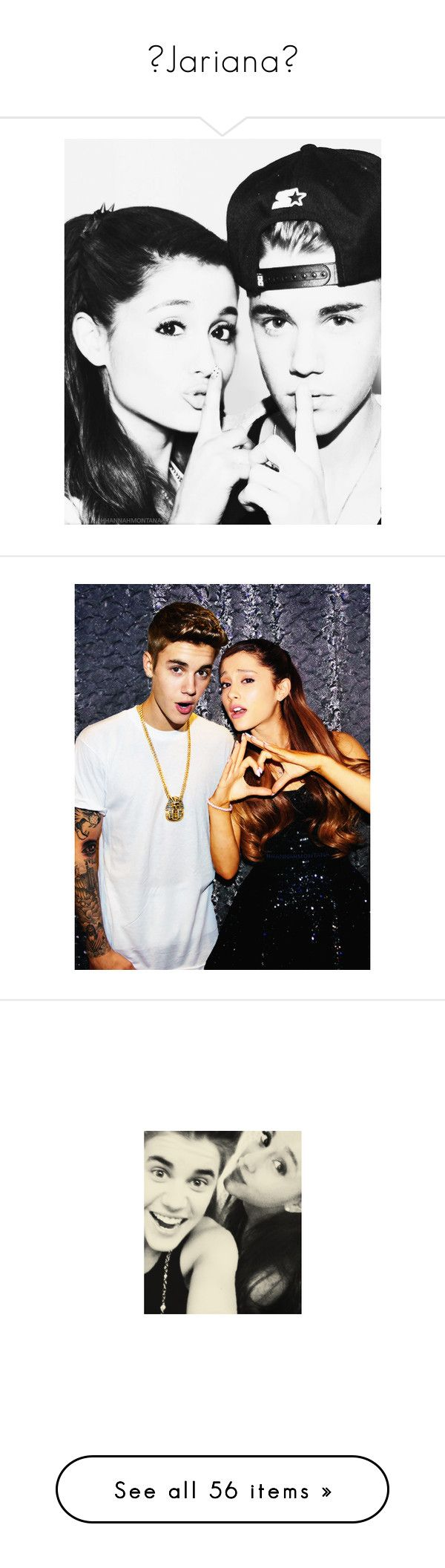 """♥Jariana♥"" by rosydaniela ❤ liked on Polyvore featuring jariana, ariana, ariana grande, ari, justin & ariana, ariana and justin, ariana manips, justin bieber, justin and manips"