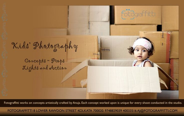 Kids Photography at Fotograffitti. Concepts artistically crafted for kids are unique for each shoot held at Fotograffitti.