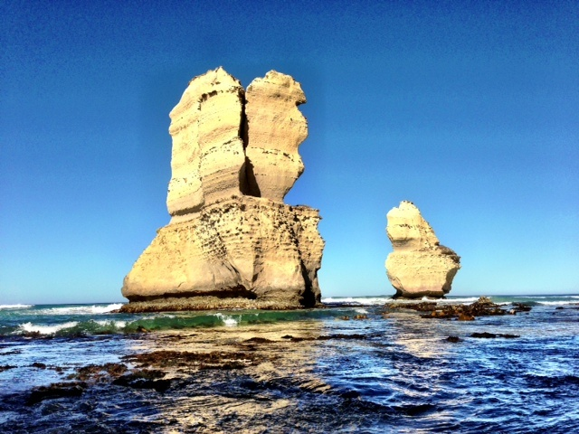 Morning light on rock stacks. Gibson Steps Port Campbell National Park - Great Ocean Road