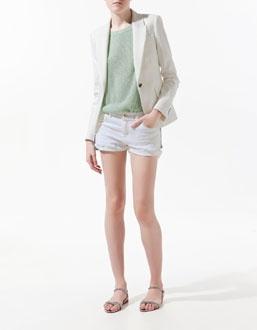 Mint Jacket + White Shorts
