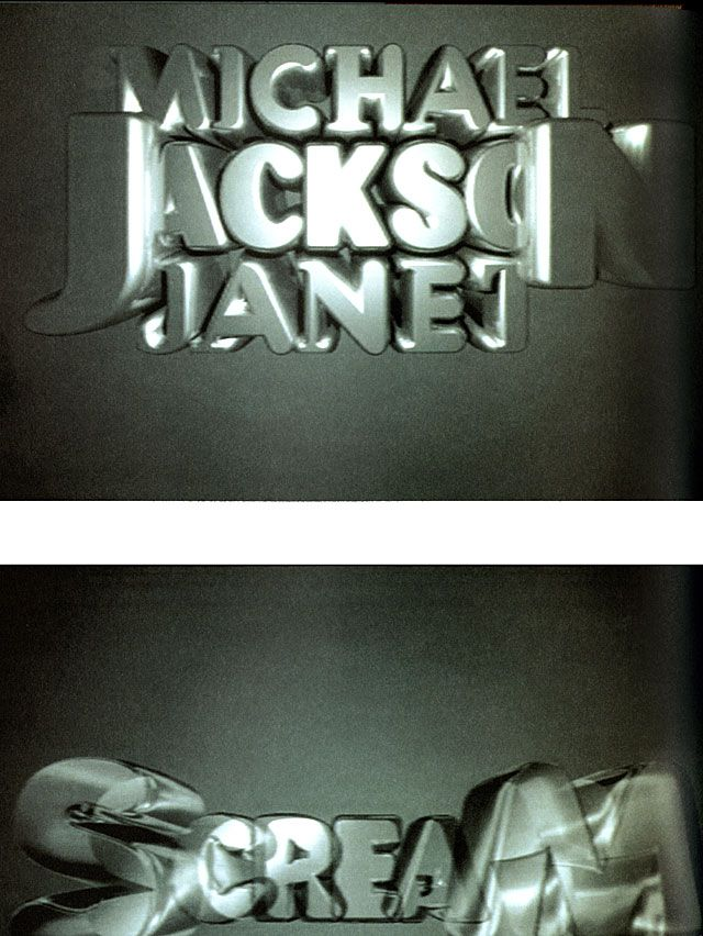 Haycock Makela • Stills from Michael and Janet Jackson's Scream music video, 1995 (typography)