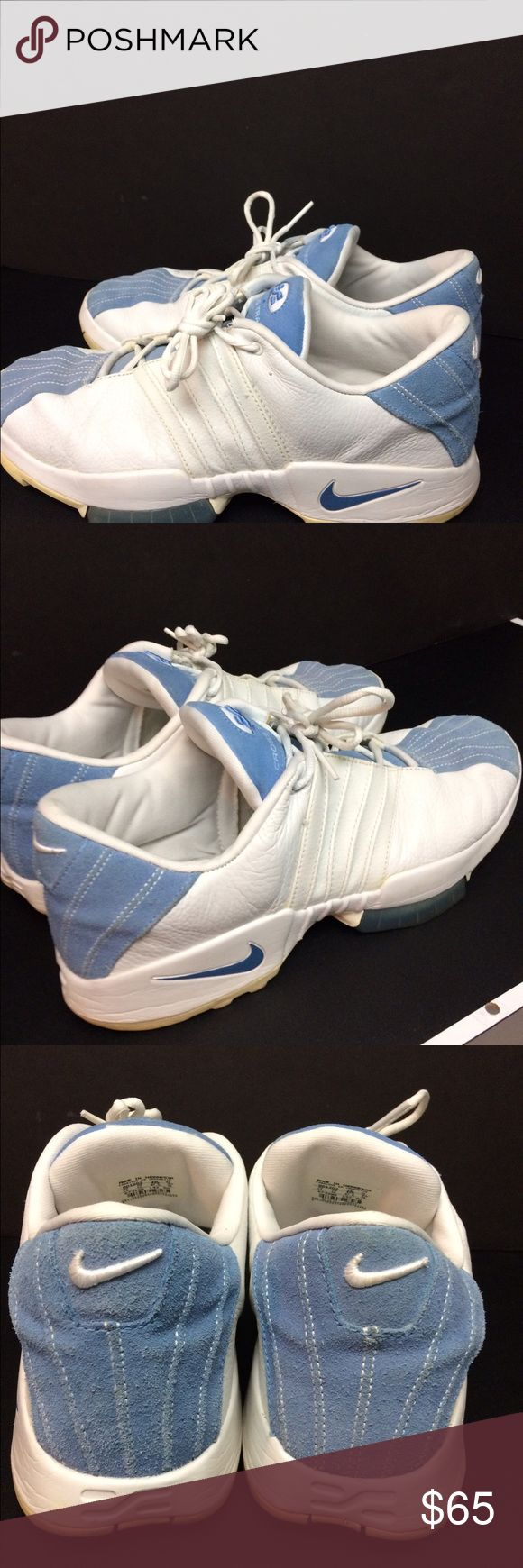 Air Cross Training Air Cross Training. men's white leather and light blue suede shoes. Nike Shoes Sneakers