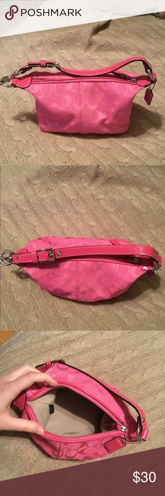 Coach purse Mini pink Coach purse. Gently used. No imperfections. Coach Bags Mini Bags