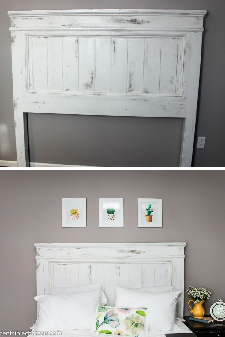 DIY. Build this country-style headboard for about $ 100! It will be the center
