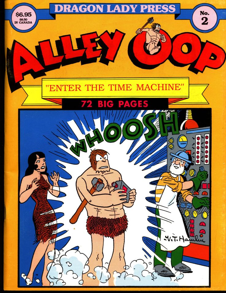ALLEY OOP #2 V T Hamlin Time Machine Dragon Lady Press Reprints Illustrated Dinosaur Caveman Kaiju Humor Science Fiction Fantasy Comic Strip