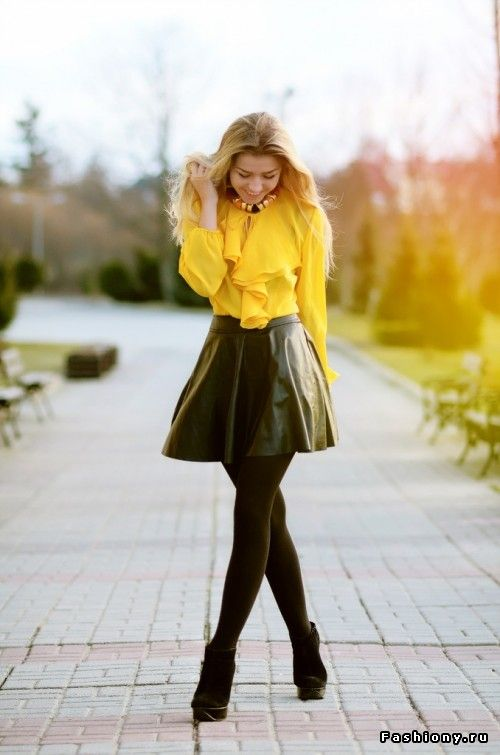 Дело в коже / кожаные юбки 2013