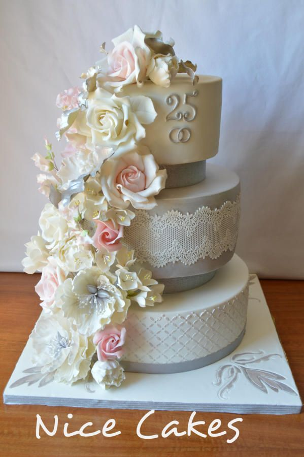 25 th wedding anniversary by Nice Cakes - http://cakesdecor.com/cakes/252305-25-th-wedding-anniversary
