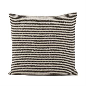 Sail cushion cover 50x50 cm - black-off white - House Doctor