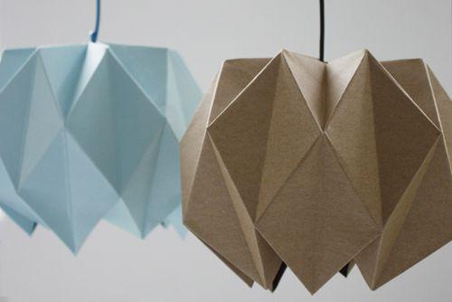 DIY origami lampshade