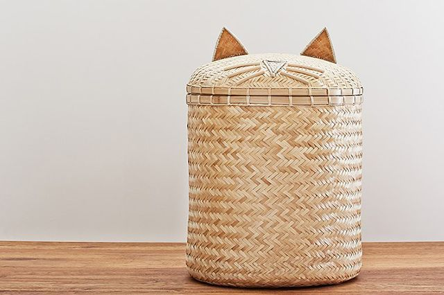 How To Make A Modern Kid's Room YOU'LL Want To Live In #refinery29  http://www.refinery29.com/modern-kids-room#slide-6  Because every room needs a playful cat hamper. Emily & Merritt Cat Hamper, $129, available at Pottery Barn Kids....