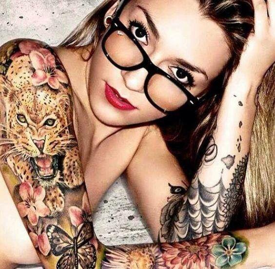 Cardi B Tattoos Arm: Leopard Tattoos, Tattoos, Sleeve Tattoos
