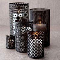 DIY aluminum lanterns using decorative aluminum sheets, oatmeal box, soup can. Easy. Tutorial.