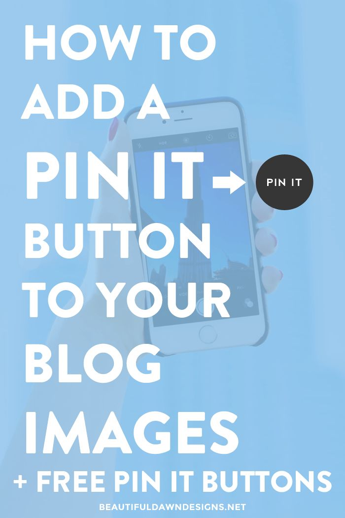 "In this tutorial I show you how to add a pin it button to your WordPress blog. This tutorial includes free ""pin it"" buttons."