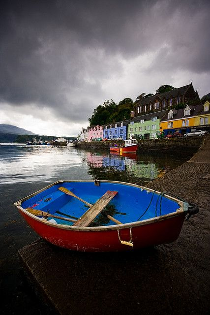 I have very fond memories of Portree, Scotland, way up in the Isle of Skye. Photo taken by Kieran Campbell.