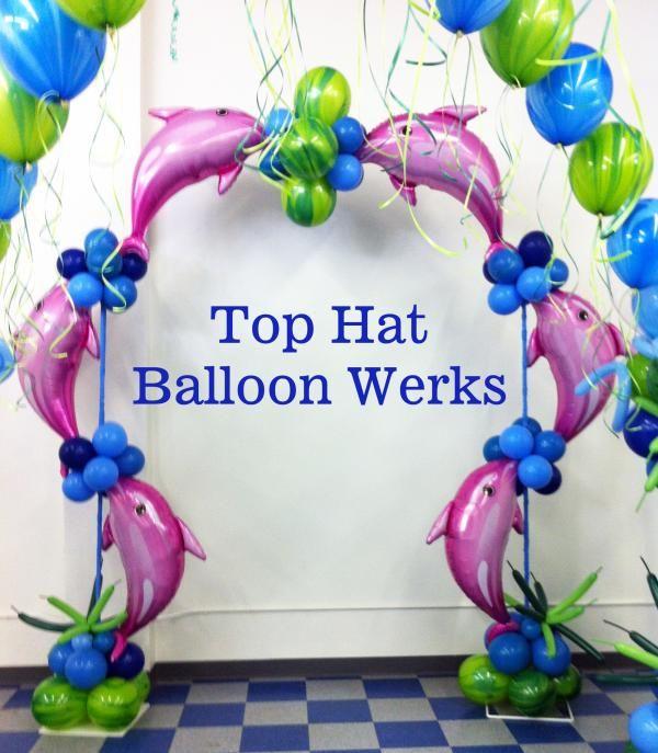 Ocean Decorations | Dolphin Tropical Balloon Decoration