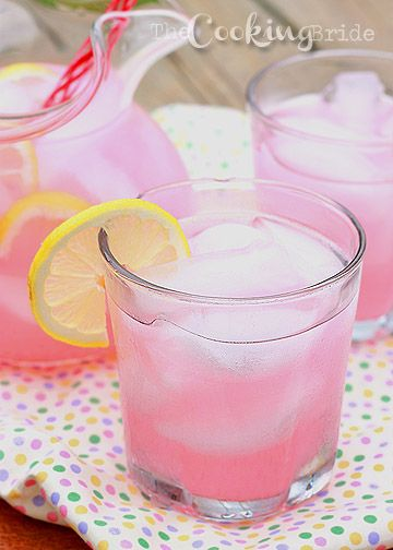 Homemade Pink Lemonade --- Easy Recipe from Martha Stewart: http://www.marthastewart.com/317216/homemade-yellow-or-pink-lemonade And Some helpful tips: http://whiskedfoodie.com/la_foodie/how-to-perfect-homemade-pink-lemonade/