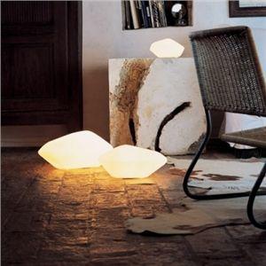 Moderne Tischlampe Stein Design mit Mundgeblasenes Glas
