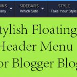 Stylish Floating Header Menu For Blogger Blogs