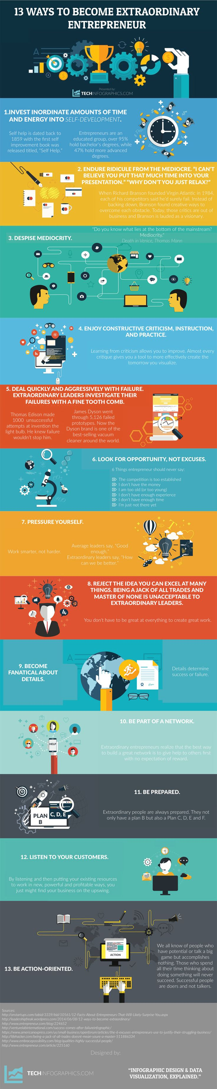 13 tips for Extraordinary entrepreneur #infographic