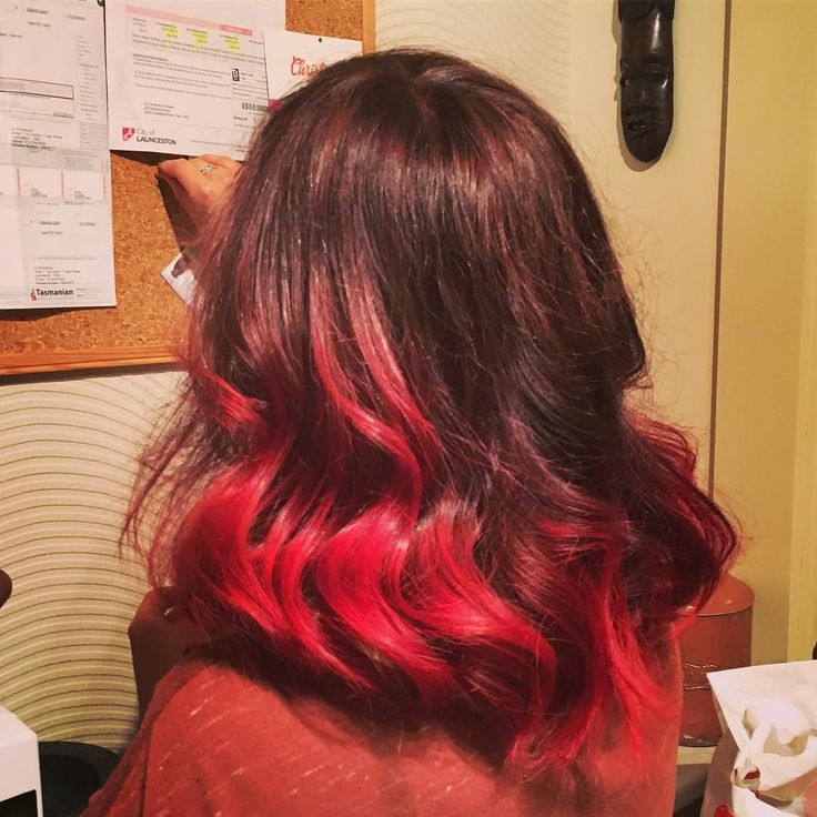 New 'do by miss @cmills_92 - that girl can work wonders!  #hair #red #newdo #newhairdontcare #ombre #brunette #style